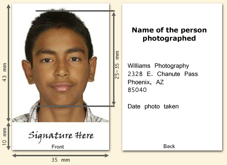 Passport photograph specifications canada